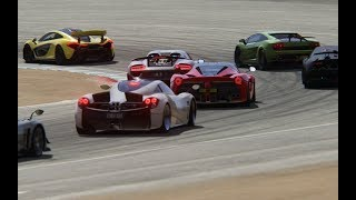 Battle Porsche 918 Spyder vs Super Cars at Mazda Raceway Laguna Seca