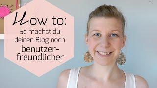 Mini Blog Booster #9 - So machst du deinen Blog noch benutzerfreundlicher