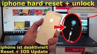 iPhone Hard Reset deutsch - deaktiviertes iPhone ohne SIM zurücksetzen Update [English subtitles]