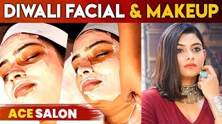 ACE SALON & SPA PRESENTS DIWALI MAKEOVER | VJ MAHESWARI
