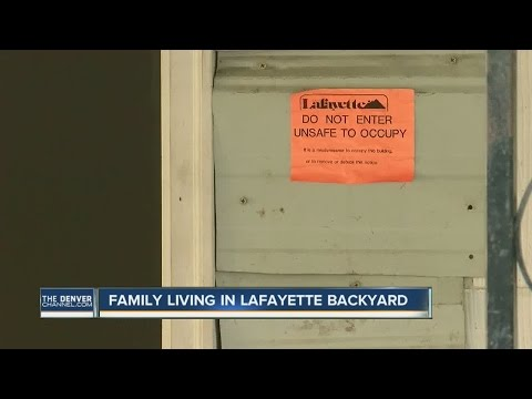 Lafayette family in trouble for camping in backyard after fire