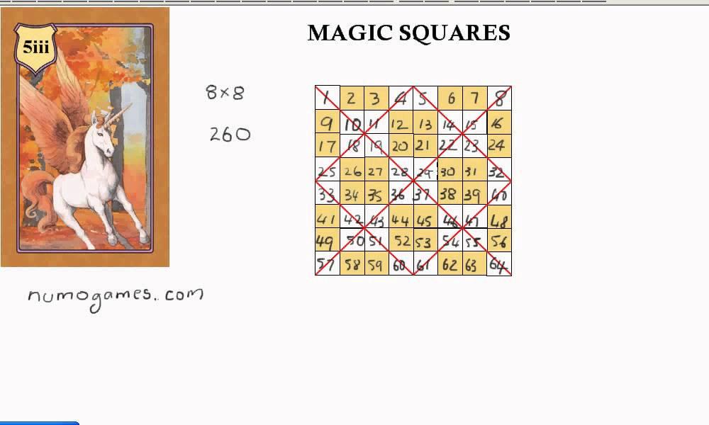 numo magic square 8x8