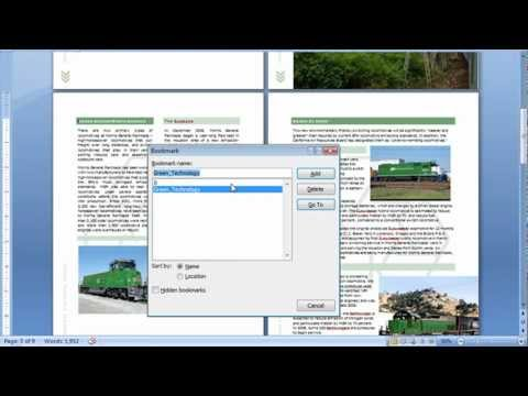 Creating Bookmarks in Word