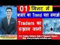 01 मिनट में बाजार का Trend  पता लगाओ  Traders का रुझान जानो | Stock Trading Strategies