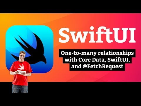 One-to-many relationships with @FetchRequest and SwiftUI – Core Data SwiftUI Tutorial 7/7 thumbnail
