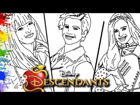 Desenhos Da Disney Filme Descendentes 2 Mal Evie Carlos Cor Paint