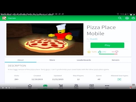 ROBLOX Mobile - PIZZA PLACE MOBILE -iPhone, iPad, and iPod touch. Android