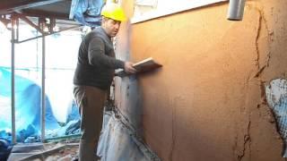 aplicacion de mortero monocapa en fachada