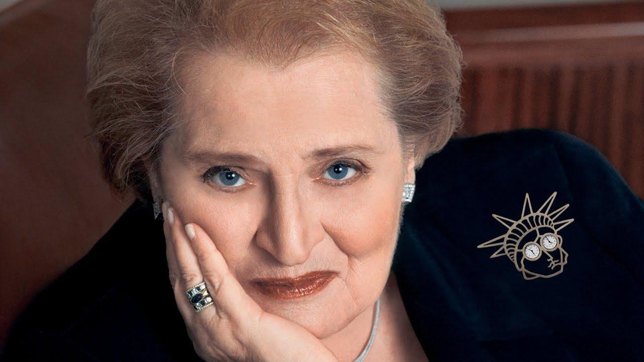 Madeleine Albright pin exhibit on tour