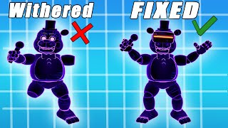 Fixed Vs Withered Toy FNAF AR Special Delivery Animatronics