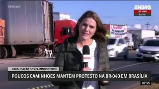 Greve dos caminhoneiros em torno  de Brasilia