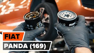 Kako zamenjati oljni filter in motorna olja na FIAT PANDA (169) [VODIČ AUTODOC]