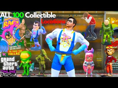 ALL 100 Collectible Action Figures Locations Walkthrough Guide Impotent Rage Outfit HardCore Comic