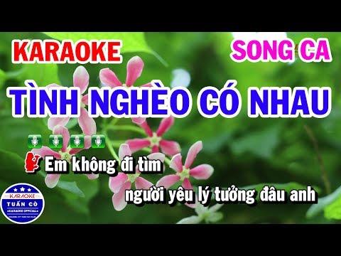 Tình Nghèo Có Nhau || Nhạc Sống Song Ca Beat || Karaoke Tuấn Cò