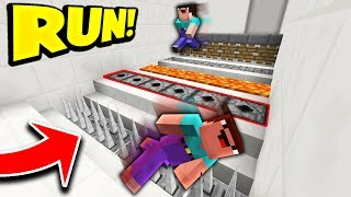 10 NOOBS vs DEADLY MINECRAFT TRAPS! (MINECRAFT 1.12 DEATH ESCAPE!)