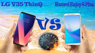 LG V35 ThinQ vs Huawei Enjoy 8 Plus 📱FULL COMPARE📱