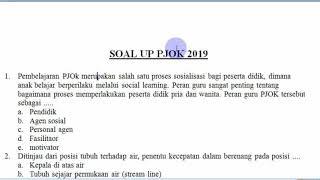 Soal Up Ukmppg Pjok Terbaru 2019 #soalup2019 #up2019 #skbpjok