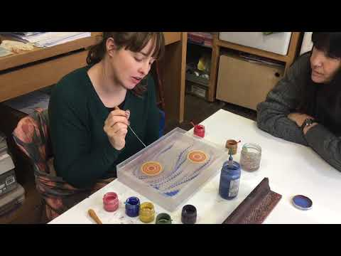 Paper Marbling and Turkish Ebru beginners art class with James Mouland
