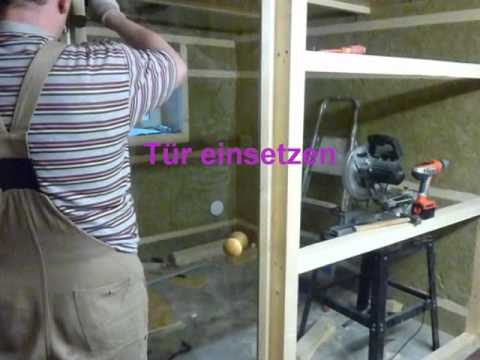 sauna bauen youtube. Black Bedroom Furniture Sets. Home Design Ideas