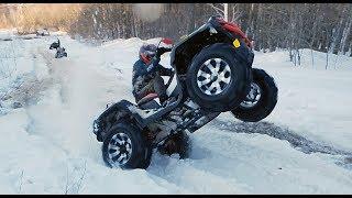 Наваливаем на BRP Xmr 1000  и Can-am Renegade по снежной ЖИЖЕ !!!