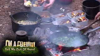 Jamie and Jennie Cook Jungle Fish and Chips! | I'm A Celebrity... Get Me Out Of Here!