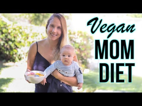 WHAT I EAT IN A DAY VLOG | Vegan Food & Breastfeeding Supplements