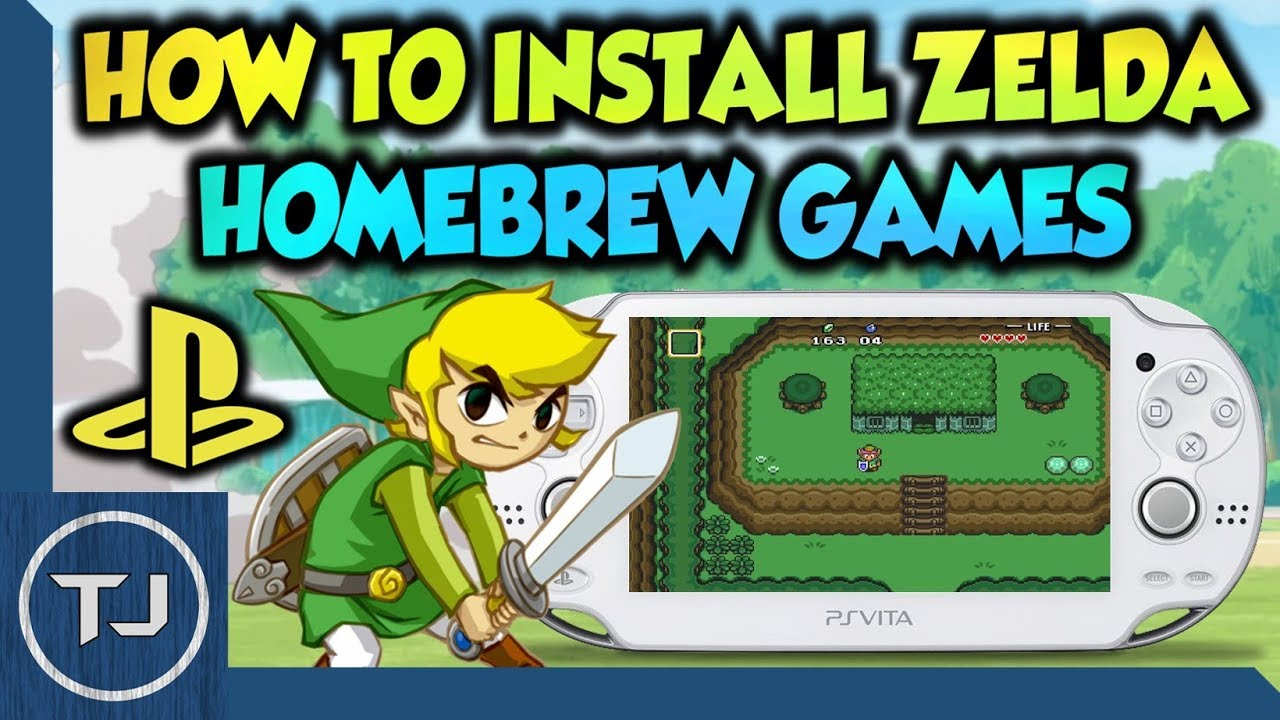 PS Vita How To Install Zelda Homebrew Games!