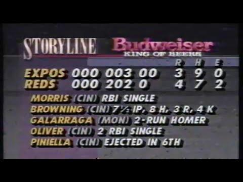 1990 MLB: Expos at Reds 7/18/1990