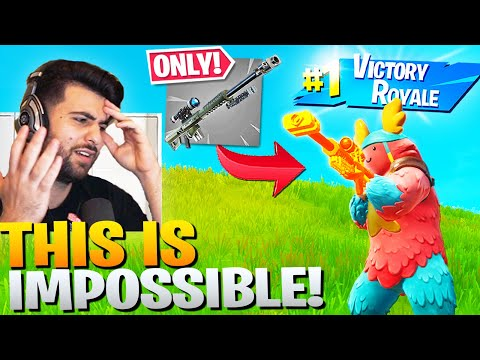 I WON With *ONLY* The NERFED Heavy Sniper! - Fortnite Battle Royale Challenge