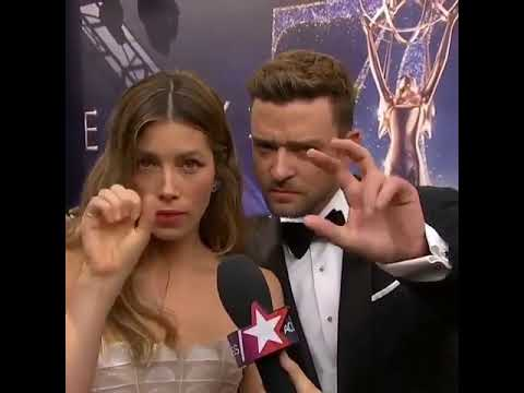 Jessica Biel  and Justin Timberlake giving shoutout to their son