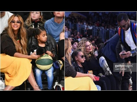 Blue Ivy Mean Muggin Diddy After Taking Her Photo At NBA All Star Game