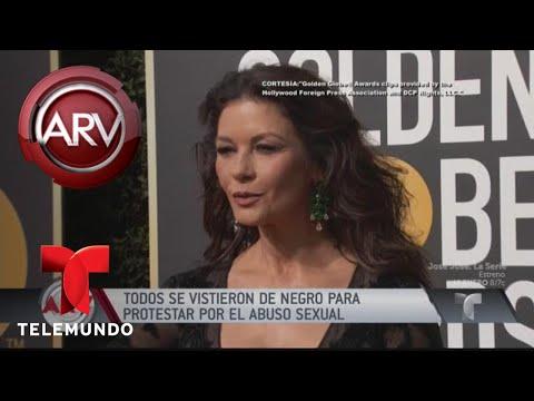 Alfombra roja teñida de negro contra el acoso sexual   Al Rojo Vivo   Telemundo