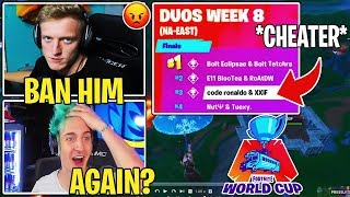 TFUE & Streamers reagir ao Pro Player Xxif * CHEATING * novamente na Copa do mundo Fortnite!
