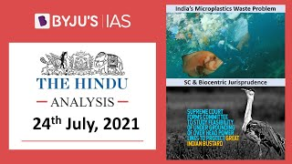 'The Hindu' Analysis for 24th July, 2021. (Current Affairs for UPSC/IAS)