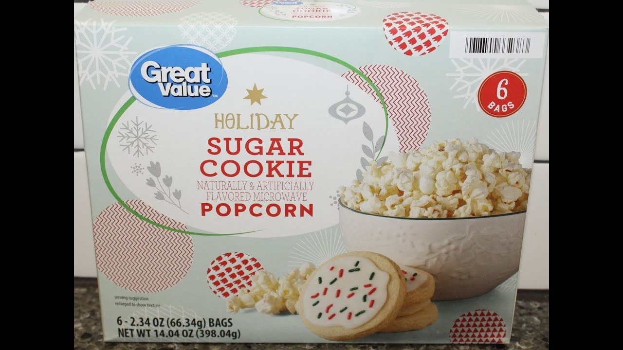 great value walmart holiday sugar cookie microwave popcorn review