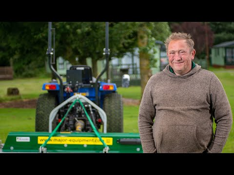 2.4m Major Swift Roller mower at Hetherick Caravan Park