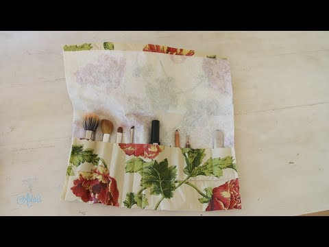 How to Make a Makeup Brush Roll Holder - Sewing For Beginners 3 - 동영상
