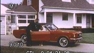 Stock Footage - TV Ad  - 1965 Ford Mustang Fastback 5-Speed