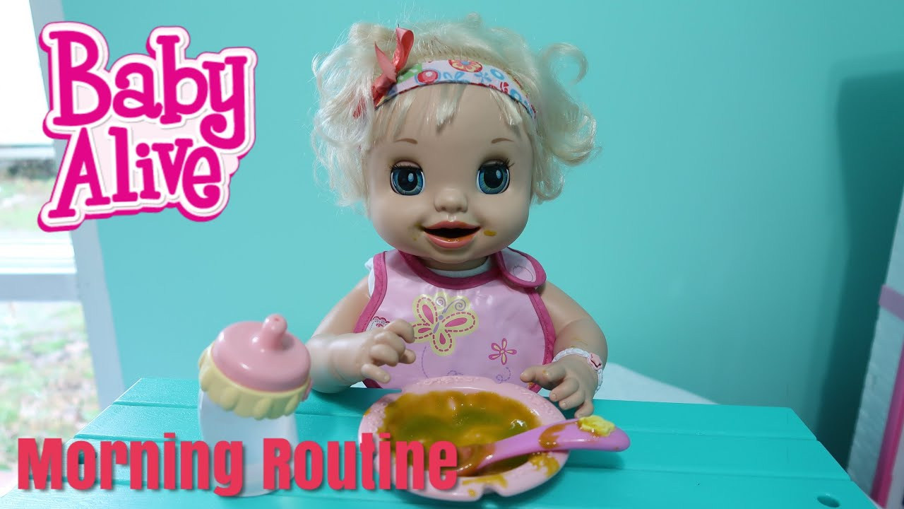 BABY ALIVE Morning Routine Feeding baby alive videos - YouTube