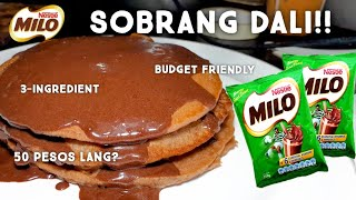 MILO PANCAKE! | WITHOUT BAKING POWDER AND HAND MIXER!! | EASY TO MAKE! PINOY TASTE