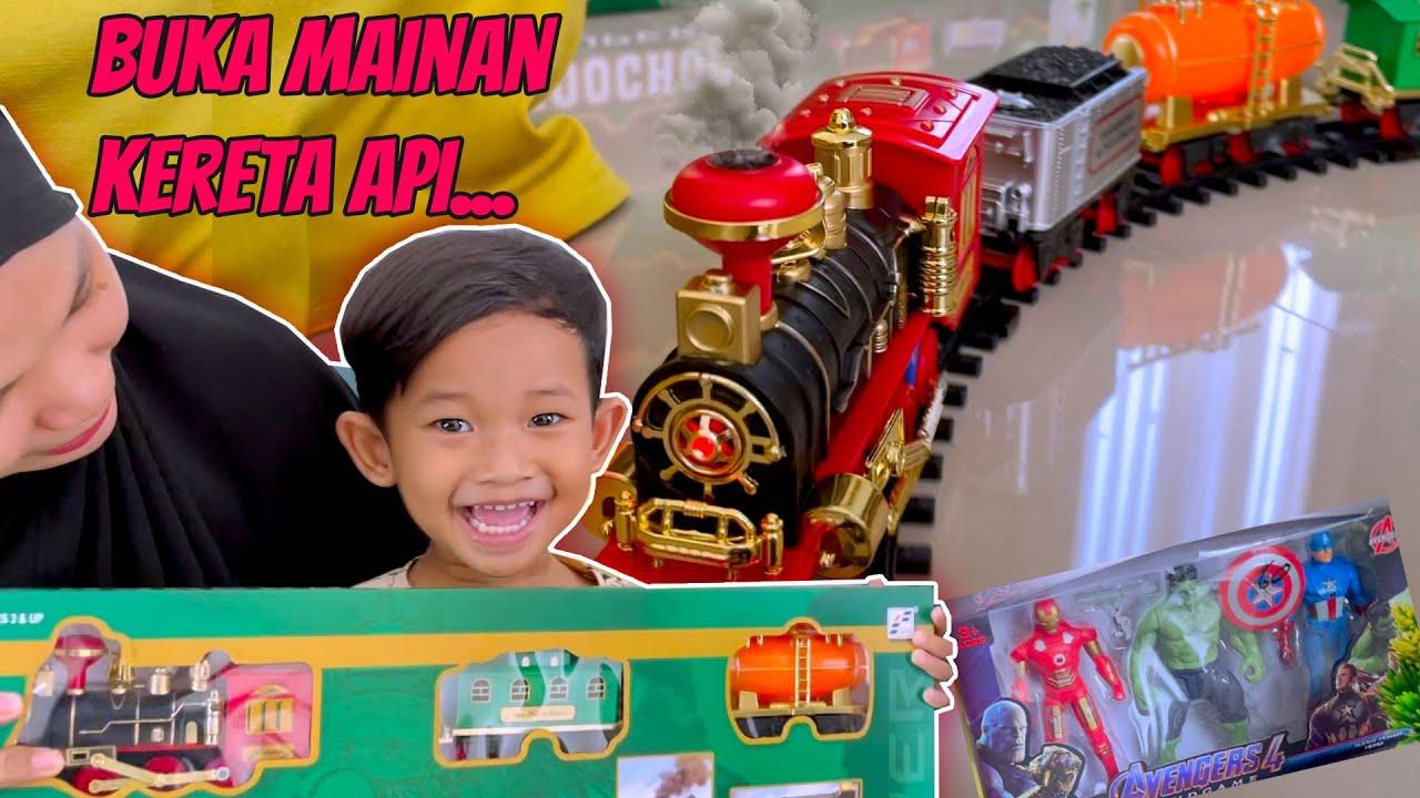 BUKA Mainan Kereta Api Ada ASAPNYA 😱 TERNYATA!! UANG ANGPAU LEBARAN ITU MILIK.... KAKAK HANA wkwkwk