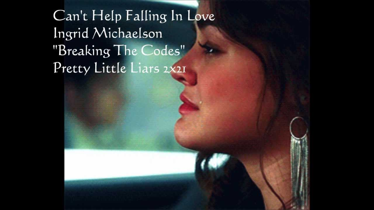 ingrid michaelson can t help falling in love Lyrics of can't help falling in love by ingrid michaelson: like a river flows so surely to the sea, oh my darling so it goes, some things are meant to be.
