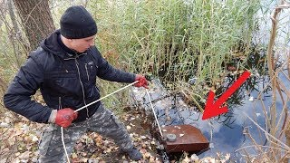 BIG MAGNET CATCH FROM THE RIVER! MAGNET FISHING! CrazySeeker!