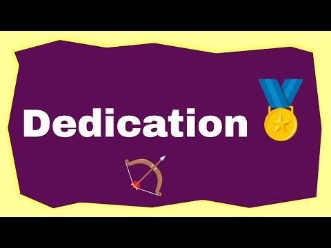 #3 Dedication