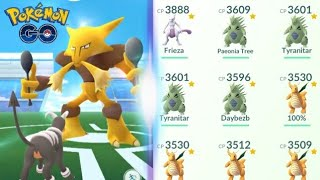 SOLOING ALAKAZAM WITH A DIFFERENT TEAM - POKEMON GO