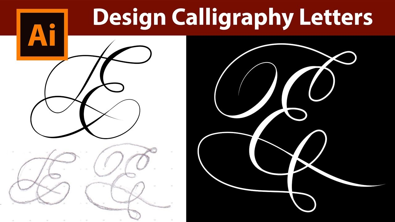 How to Design Vector Calligraphy Letters from a Sketch in ...