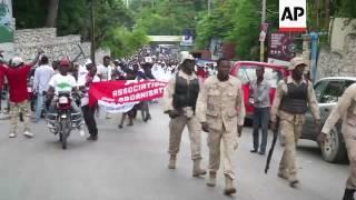 Haiti protesters demand president's resignation