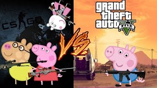 Свинка Пеппа на русском новые серии GTA 5 vs CS GO Пеппа геймер