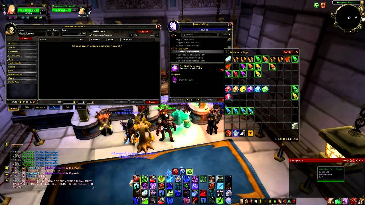 world of warcraft make money with jewelcrafting 6000g a day