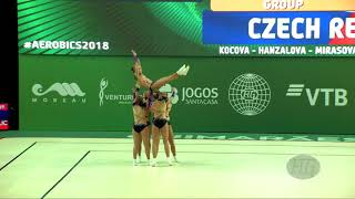 Czech Republic (CZE) - 2018 Aerobic Worlds, Guimaraes (POR) - Group Qualifications